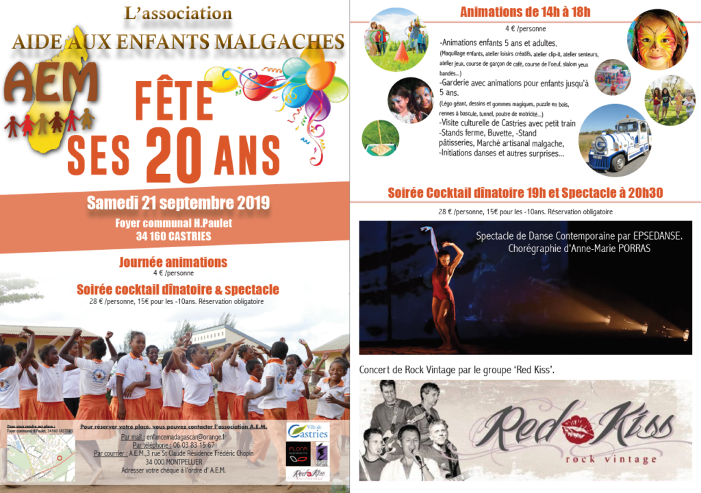 AEM fête ses 20 ans le samedi 21 septembre 2019